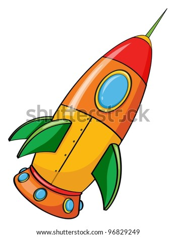 illustration of rocket on a white background