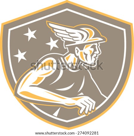 illustration of roman god