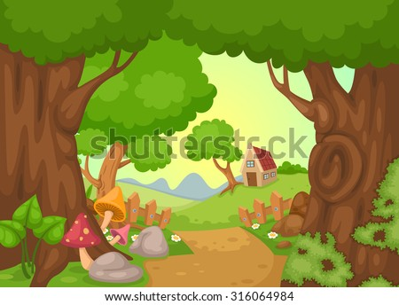 illustration of rural landscape