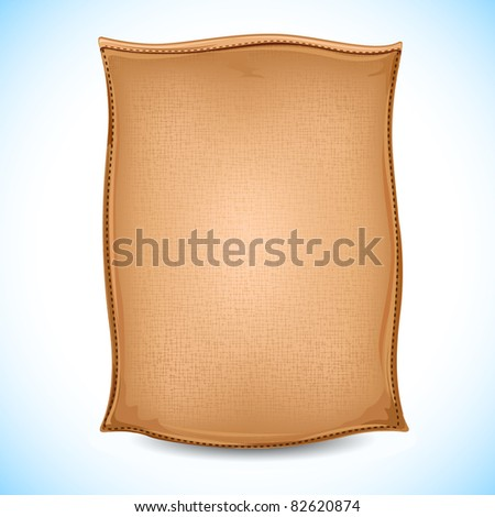 illustration of sack full of cement on abstract background