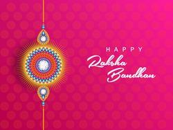 illustration of Sale and promotion banner poster with Decorative Rakhi for Raksha Bandhan, Indian festival of brother and sister bonding celebration