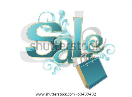 "Illustration of ""Sale"" design template"