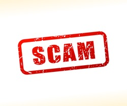 Illustration of scam text stamp