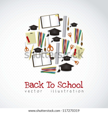 Illustration of school icons, student icons, back to class. vector illustration