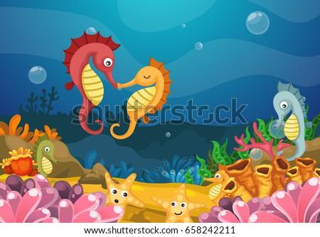 illustration of sea underwater