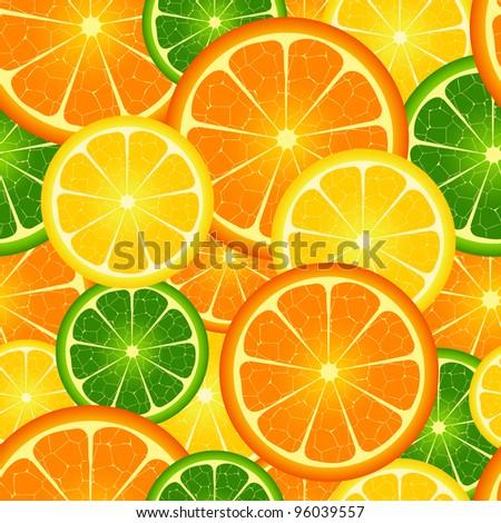 Illustration of  seamless orange  background