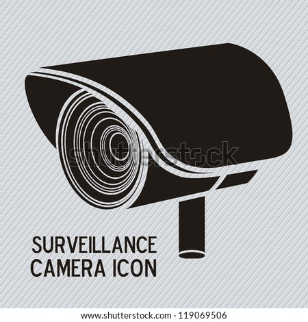 Illustration of security camera, security cameras icons, vector illustration