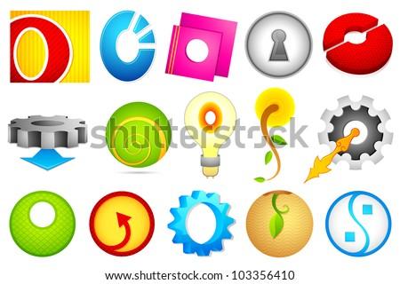 O Alphabet Logo logo icon for alphabet O