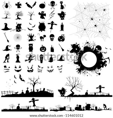 illustration of set of