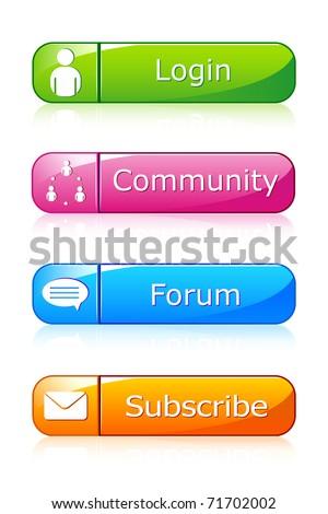illustration of set of icon for web on isolated background