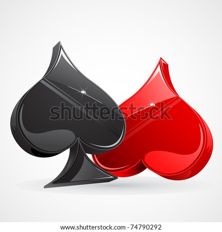 illustration of set of playing card symbol on abstract background - stock vector