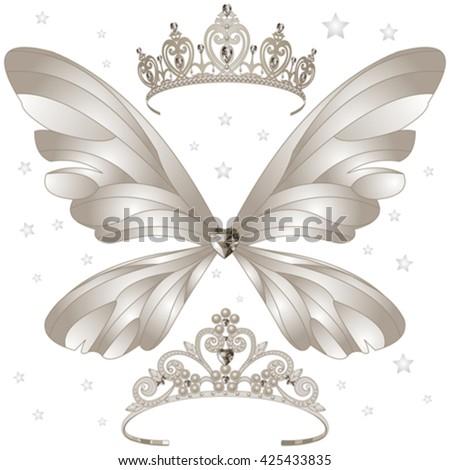 illustration of shining tiaras