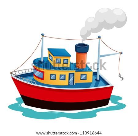 Illustration of ship vector
