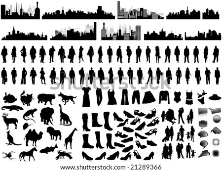 illustration of silhouettes