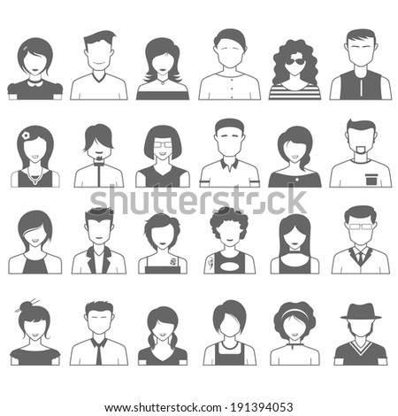 illustration of simple and clean people icon