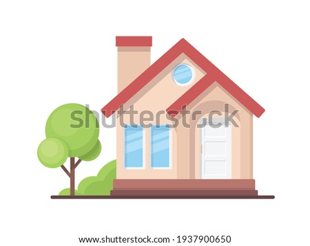 illustration of simple house isolated on white background