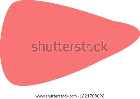 Illustration of simple liver internal organs / digestive organ
