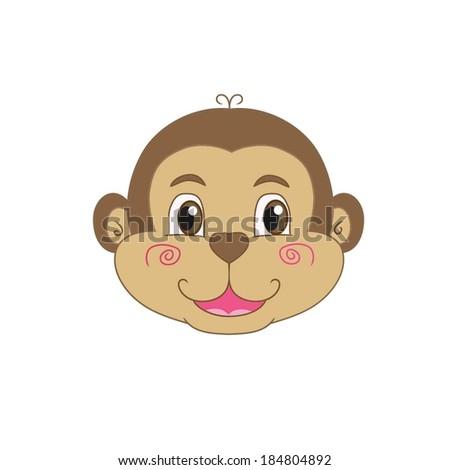 Happy Cartoon Gorilla Face Stock Images si...