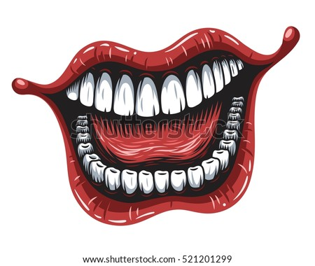 illustration of smiling mouth