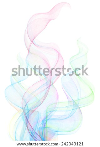 illustration of smoke clouds in