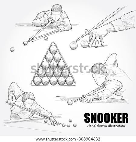 illustration of snooker