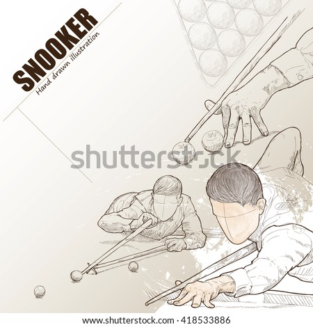 illustration of snooker hand