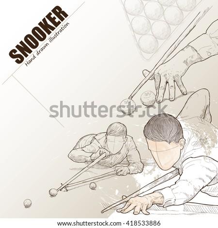 illustration of snooker hand