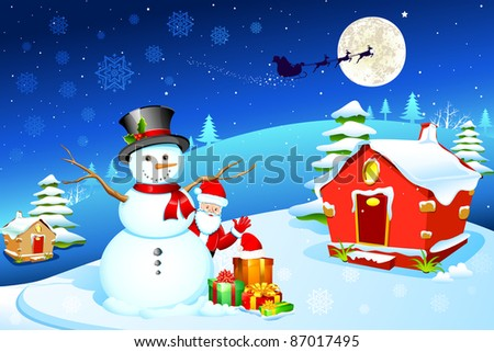 Santa Claus And Frosty The Snowman Snowman With Santa Claus