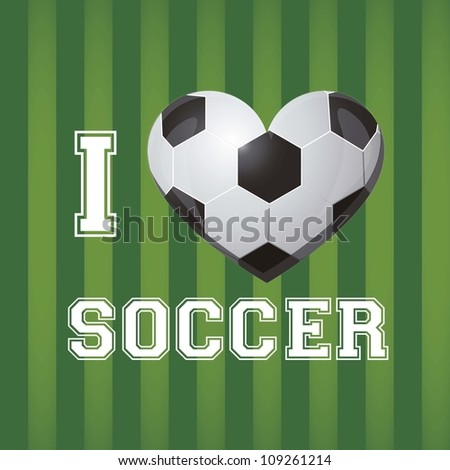illustration of soccer ball on a background of blue green, vector illustration