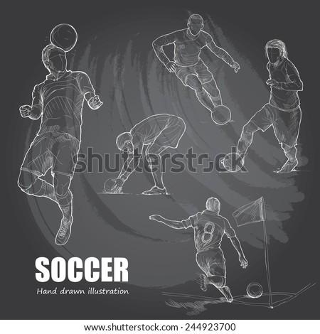 illustration of soccer hand