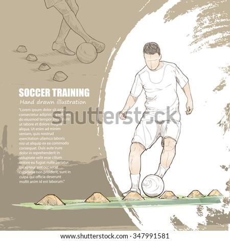 illustration of soccer training