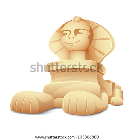 illustration of sphinx model on white background