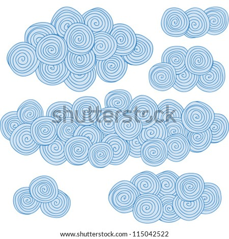 illustration of spiral clouds