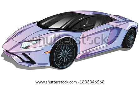 illustration of  sport car