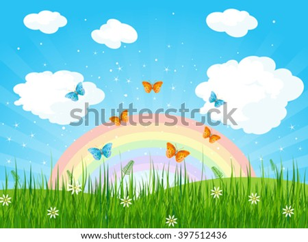 stock-vector-illustration-of-spring-landscape