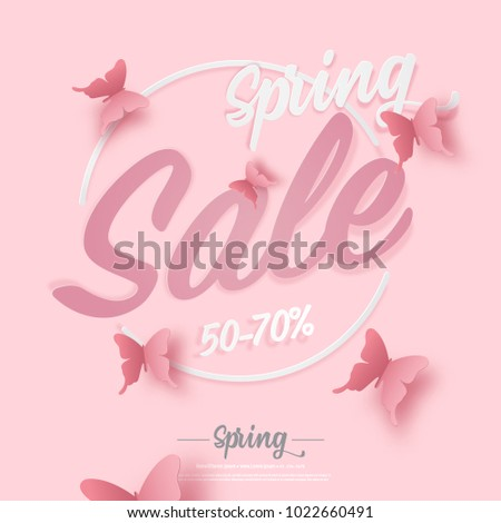 illustration of spring sale
