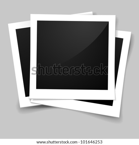 illustration of stack of retro style photo frames