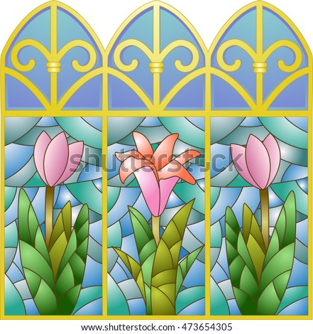 illustration of stained glass