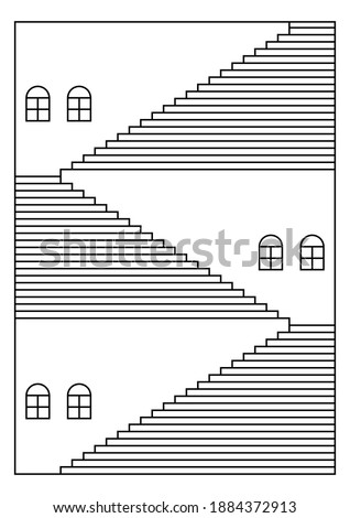 illustration of stairways to