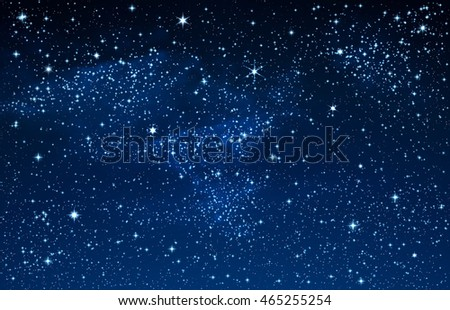 illustration of starry sky and