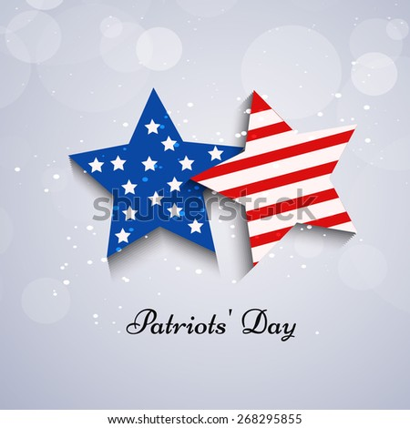 Illustration of Stars with U.S.A Flag for Patriots\' Day