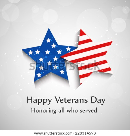 Illustration of Stars with U.S.A Flag for Veterans Day