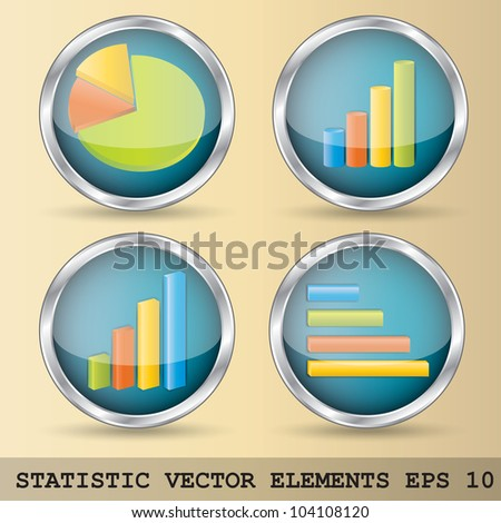 Illustration of statistic elements in four variations