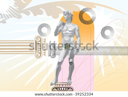 illustration of statue of david