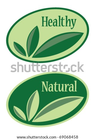 Illustration of sticker with a text