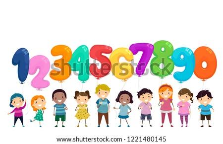 illustration of stickman kids