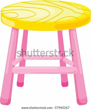 illustration of stool on white