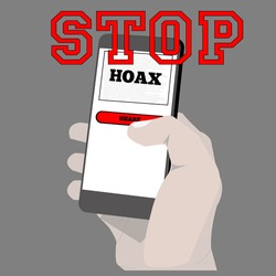 illustration of stop hoax do not share