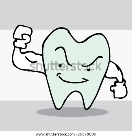 illustration of strong teeth
