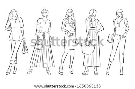 illustration of stylish woman
